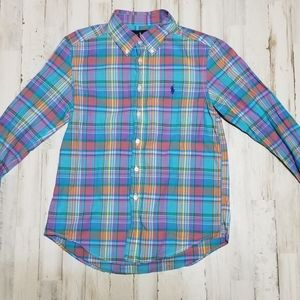 sz.M 10-12 polo ling sleeve button up